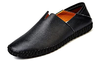 Men's Genuine Leather Loafer Shoes Slip On Walking Driving Shoes