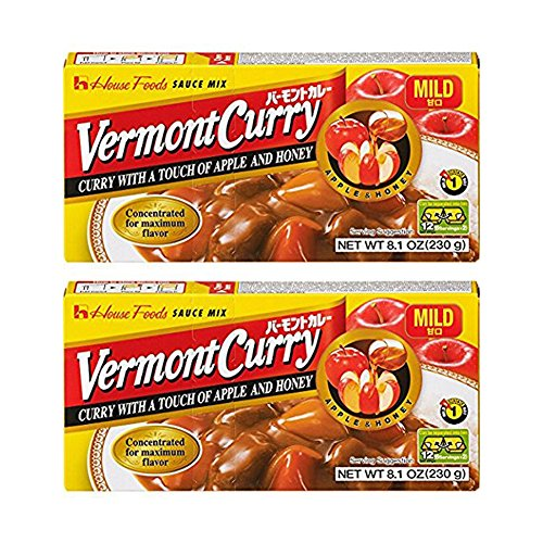 [ 2 Packs ] House Foods Vermont Curry Mild 8.11 Oz (230g)