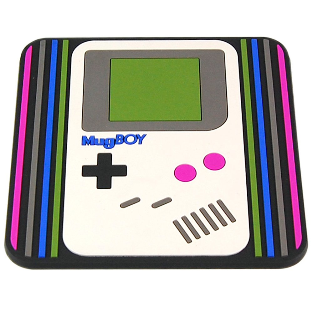 Mugboy - Gameboy Style Coaster. Classic Gamer Retro Gift Idea for Him and Her