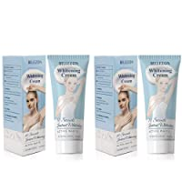 Whitening Cream Effective Lightening Cream 2 Packs for Armpit, Knees, Elbows, Sensitive...