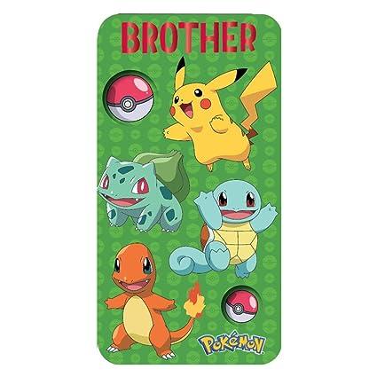 Pokemon tarjeta de cumpleaños para hermano: Amazon.es ...