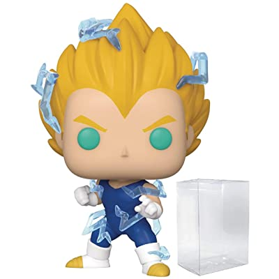 Funko Pop Anime: Dragon Ball Z - Super Saiyan 2 Vegeta (PX Previews Exclusive) Vinyl Figure (Includes Compatible Pop Box Protector Case): Toys & Games