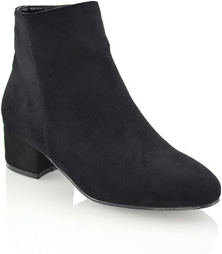 Womens Block Flat Heel Chelsea Ladies