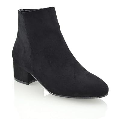 a14cfe95043dc Womens Block Flat Heel Chelsea Ladies Shorty Pixie Zip Riding Biker Ankle  Boots Shoes Size 3-8  Amazon.co.uk  Shoes   Bags