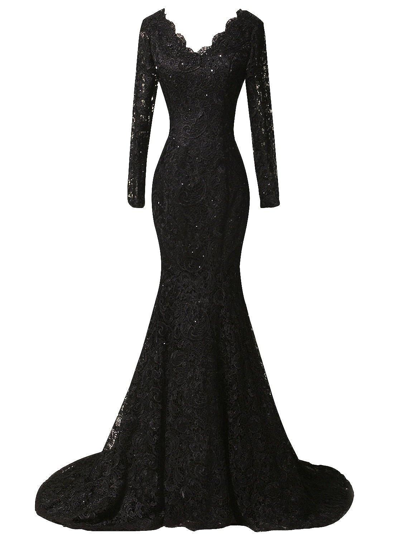 Duraplast Womens Plus Size Dress Mermaid Lace Evening Long Gown