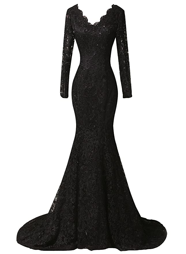 Duraplast Womens Plus Size Dress Mermaid Lace Evening Long Gown