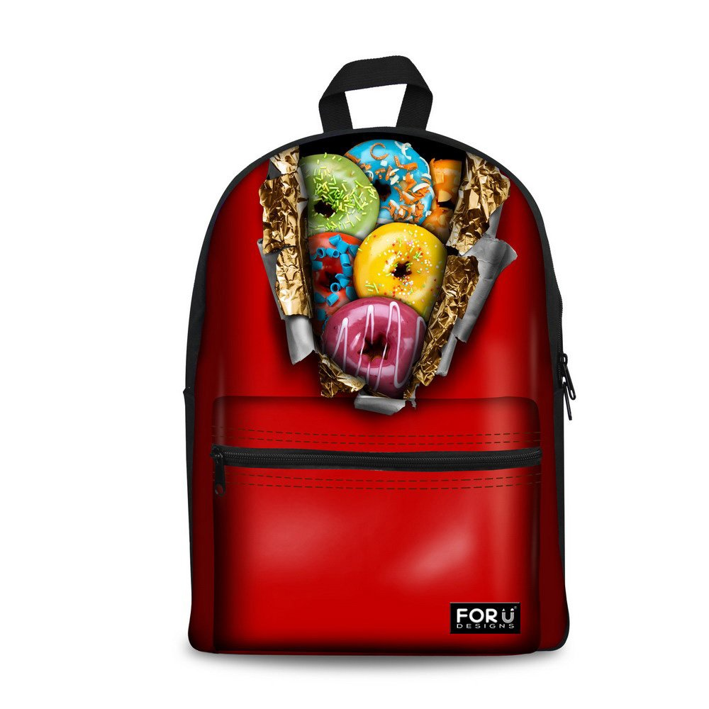 Amazon.com | Bigcardesigns Donuts Design Bookbag Backpack Schoolbag for Girls | Kids Backpacks
