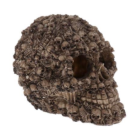 Homyl Cráneo Decoración Tanque Pescados Acuario Resina Lagartos Dragón de Correa - Estilo 1