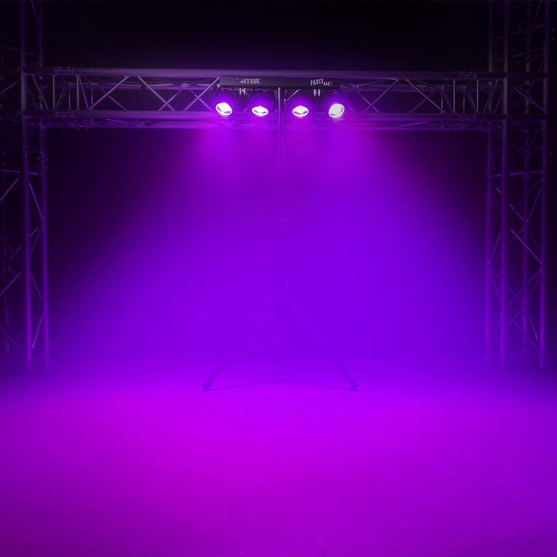 DJ Party Disco Lights Partybar MoonFlower PAR T-BAR Stand DMX Music Activated
