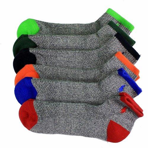 Polo 6 Pack Quarter Sock Multi-Color 0