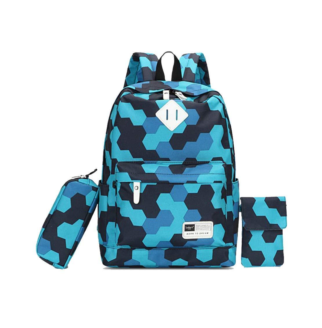 Skudy Dreiteiliger Anzug Anzug Anzug Daypacks Damen Casual Rucksack Nylon Backpack DruckenLaptop Schulrucksack Groß Schoolbag B07L8BQ1G5 Daypacks Britisches Temperament e1dbac