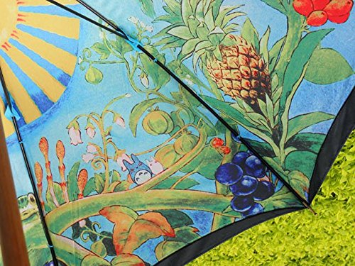 My Neighbor Totoro fresco painting umbrella ghibli umbrella and with Hayao Miyazaki forest in mitaka Ghibli Museum limited edition