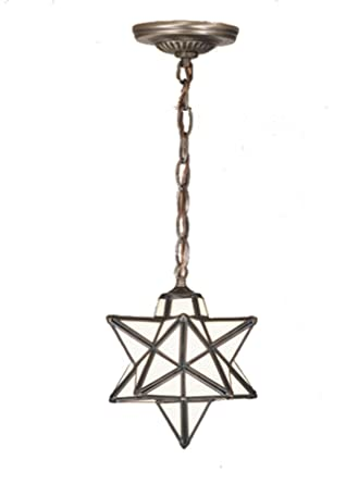 9 Inch W Moravian Star Mini Pendant Ceiling Fixture - Star Light ...