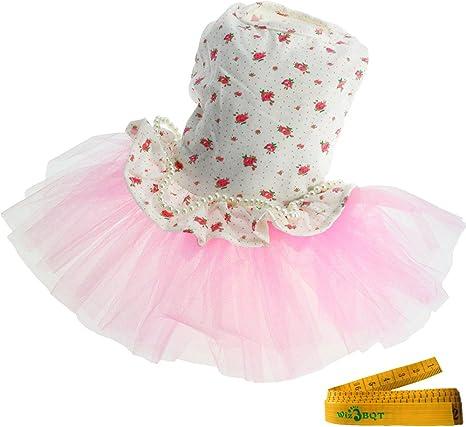 Wiz BBQT - Falda de tutú para Perro, Gato, Princesa, Flores de ...
