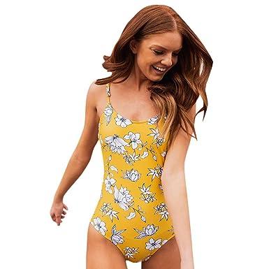 Amazon.com: nikunLONG-Bikinis - Traje de baño de una pieza ...