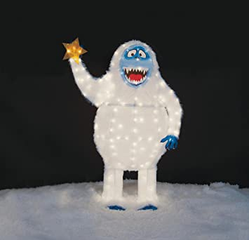 christmas 54 tall tinsel bumble the abominable snowman outdoor yard decoration