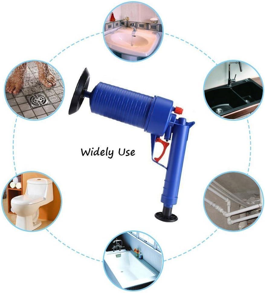 Outil de dragage pour tuyau de vidange /à air comprim/é Pour dragage maison toilettes baignoire avec 4 ventouses #5111 /Égouttoir /à haute pression pour salle de bain