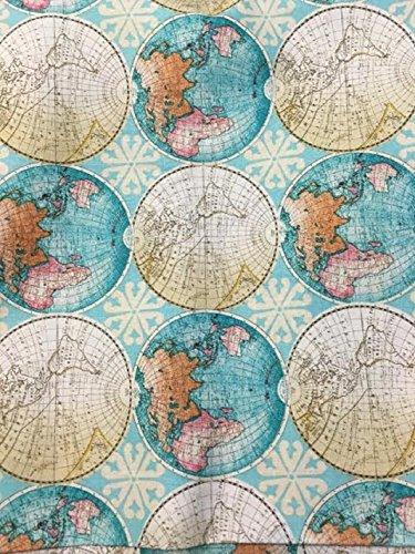 - Rand McNally ~ World Map ~ Maps ~ Globe ~ Cotton Fabric by the Yard (GLOBES)