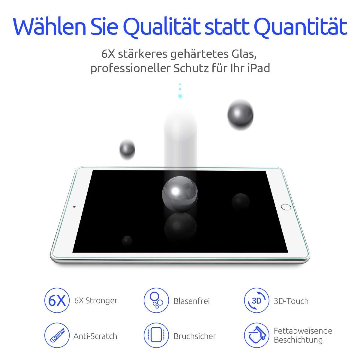 Montage Werkzeug Geh/ärtetem Glas Folie f/ür Apple Pencil // Schutzfolie kompatibel mit iPad Air 2 // iPad Pro 9.7 Zoll, DIVI 2 St/ück Panzerglas f/ür iPad 9.7 6.Generation in 2018//2017