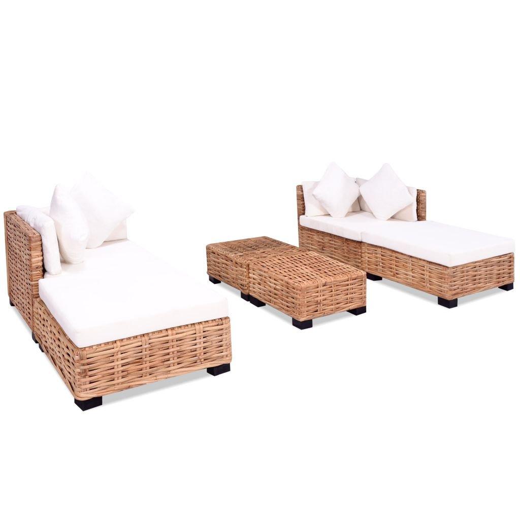 Tidyard Conjunto Muebles de Jardín de Ratán 16 Piezas Sofa ...