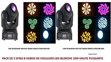 Pack 2 anclaje LED DMX équipée de una LED blanca potente 10 W con ...