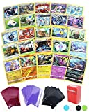 25 Pokemon Rare Card Lot 100 HP or Higher Elite Trainer Kit Cards Free Deck Box with Random Bonus (No Duplicates)