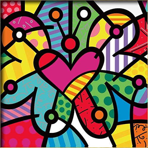 Diy oil painting, paint by number kits for kids – Abstract colorful butterfly 8″X 8″.