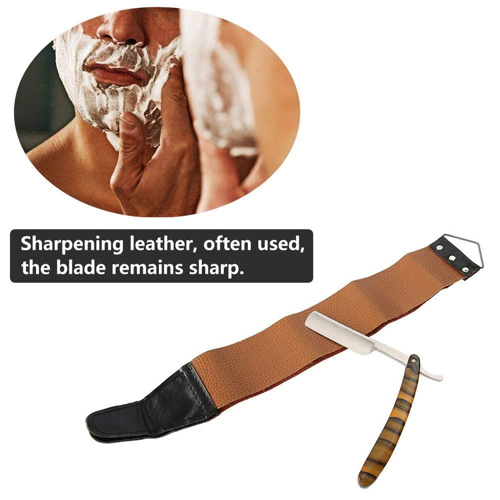 Maquinilla de afeitar, Juego de afeitado barba clásica de acero inoxidable que modela la plantilla y afeitadora de bigote Set de afeitado personal de ...