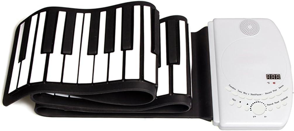 DH-K61 Portátil 61 Teclas Flexible Roll Up Piano USB MIDI Teclado Electrónico Practica Instrumentos Musicales