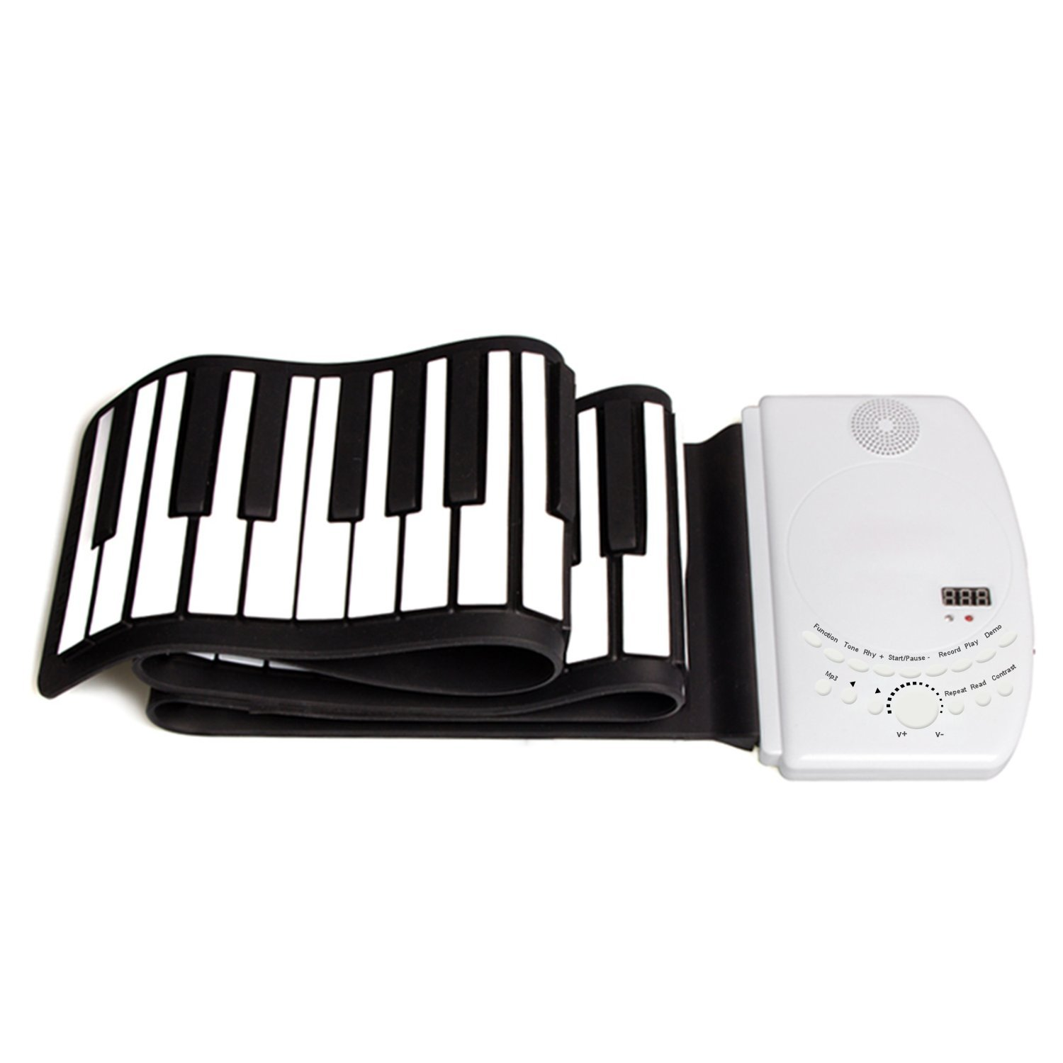 DH-K61 Portable Flexible Roll Up Piano Keyboard 61 Keys USB Midi Electronic Piano Keyboard for Beginner Children Practice Musical Instruments EVERYONE GAIN SCIENCES&TECHNOLOGY CO. LTD