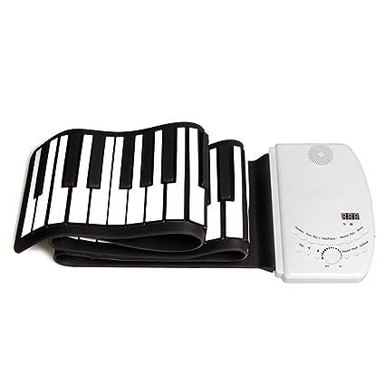 DH-K61 Portátil 61 Teclas Flexible Roll Up Piano USB MIDI Teclado Electrónico Practica Instrumentos