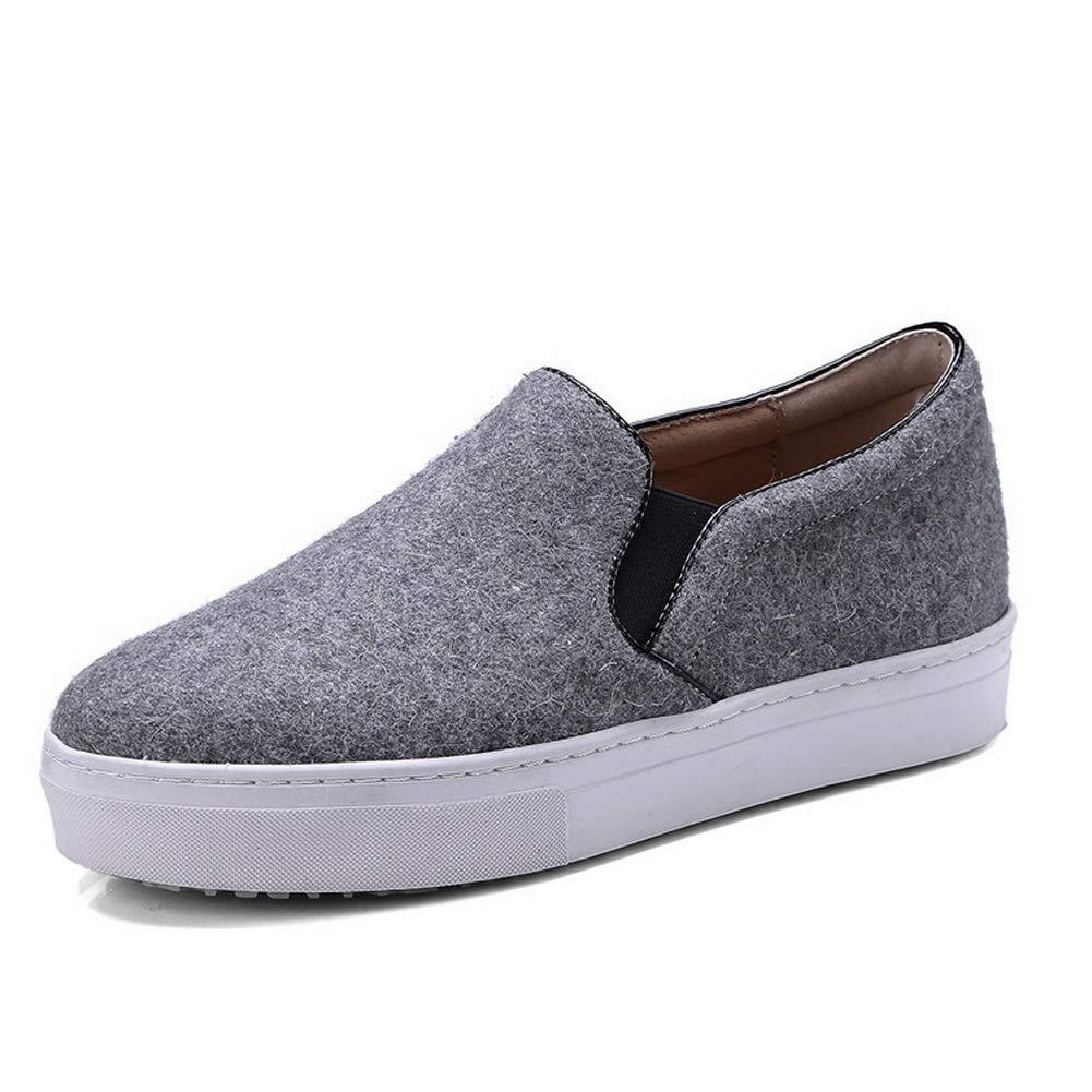 AN Womens Velvet?Lining Nylon Flats Shoes DGU00812