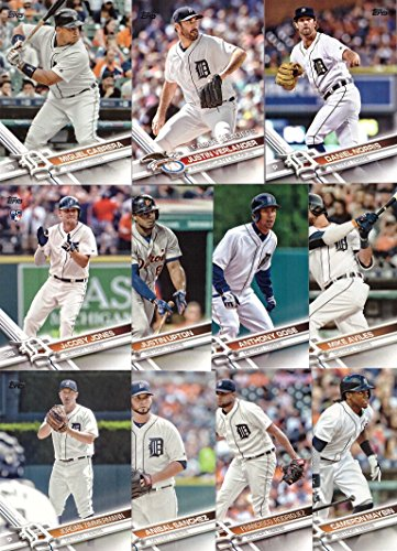 2017 Topps Series 1 Detroit Tigers Baseball Card Team Set - 11 Card Set - Includes Miguel Cabrera, Justin Upton, Cameron Maybin, Justin Verlander, Daniel Norris, and more!