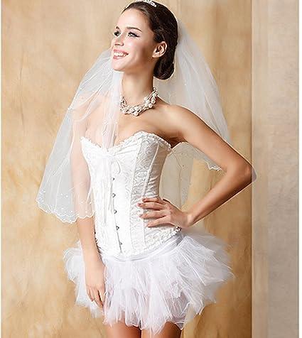 Las mujeres de novia lencería satén deshuesada de encaje sexy ropa interior vintage gótico Bustier corsé