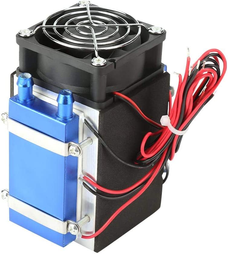 DC 12V Semiconductor Refrigeration Machine Cooler Radiator Air Cooling Heatsink DIY Device with Fan - 4&6 Chip (4 Chip)