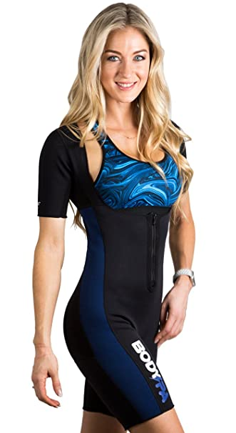 daef1dd06d Image Unavailable. Image not available for. Color  Body Spa AQUA Body Sauna  Suit Neoprene Full Body Shaper GYM Sport Aerobic ...