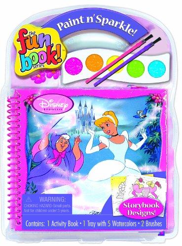 disney princess paint sparkle activity