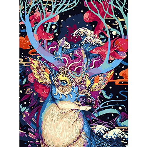 Ingooood- Jigsaw puzzle- Painting Series- colorful deer- 500 Pieces for Adult