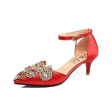 KNGMGK Kristallschuhe Hochzeitsschuhe High Heels Einzelne Schuhe