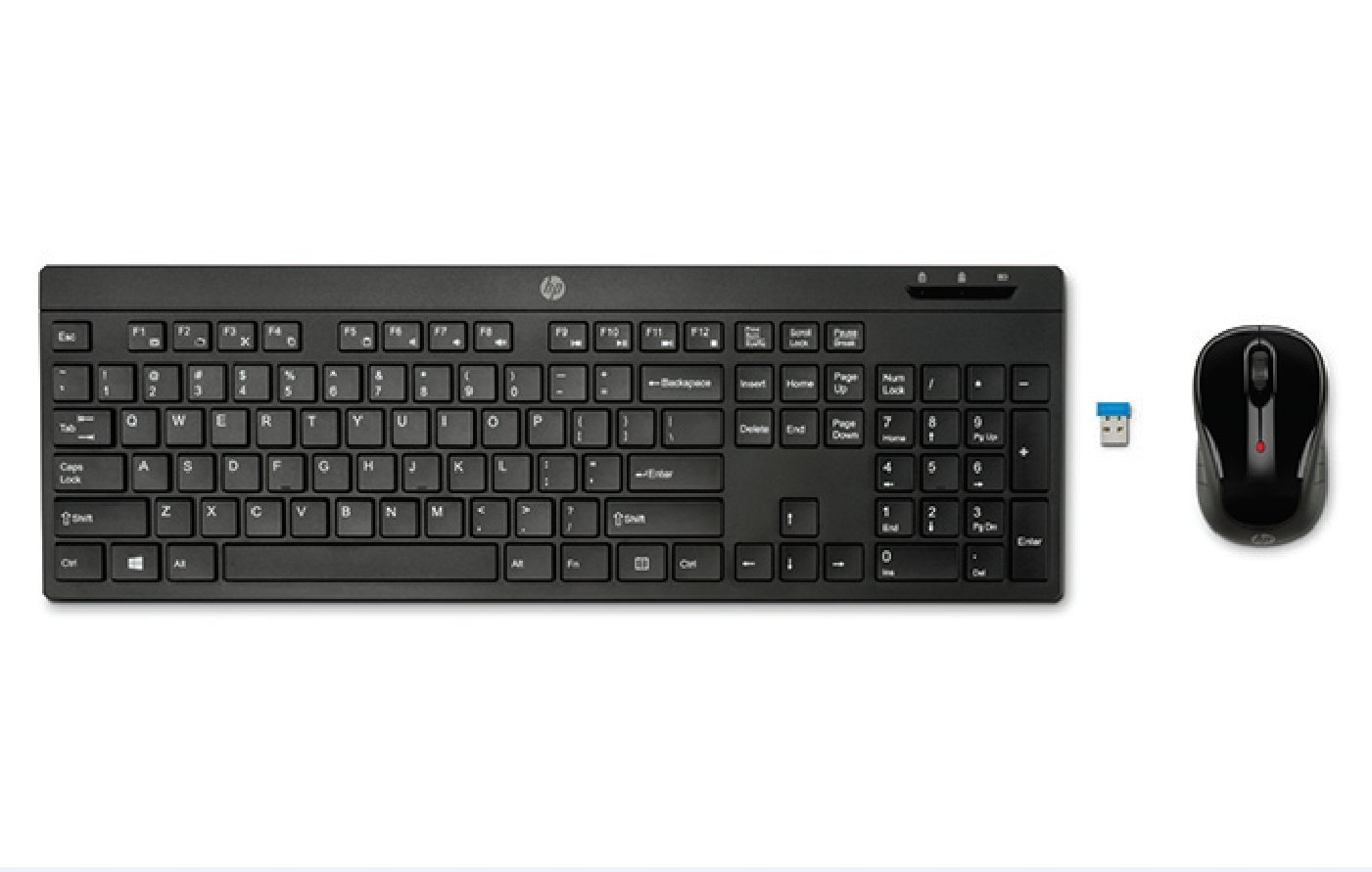 HP 200 - Teclado y ratón inalámbrico (QWERTY Español, inalámbrico, USB), color negro: Hp: Amazon.es: Informática