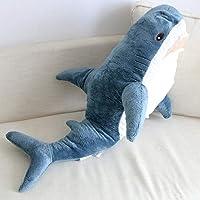 Giant Shark Plush Pillow sea Animal Blue Cushion Pillow Soft Fish Doll Popular Trick Toy Christmas