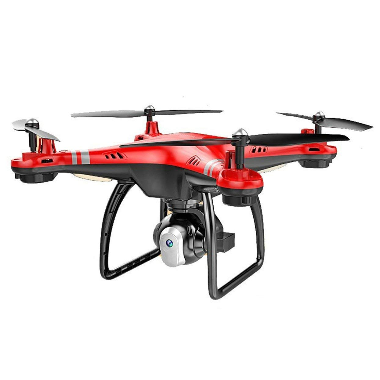 Red TreeonLife RC Drone with HD 3MP Camera Altitude Hold One Key Return Landing Take Off Headless Mode 2.4G RC Quadcopter Drone
