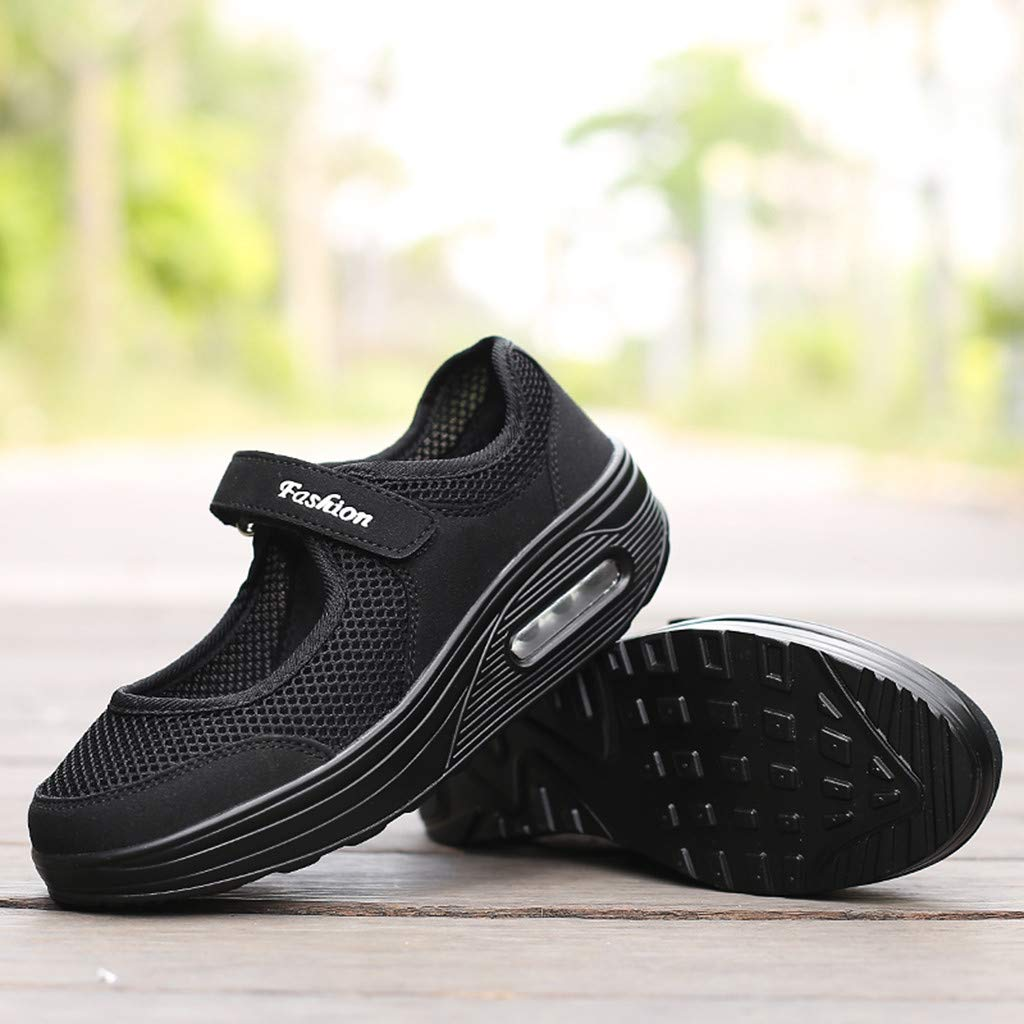 Sneakers Womens Velcro~Hotsell〔☀ㄥ☀〕Womens Velcro Casual Shoes Mesh Walking Gym Jogging Beach Sandals Fitness Sport Sneakers