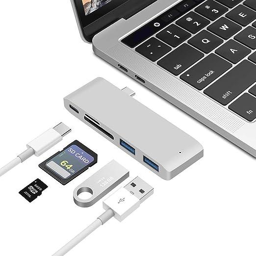 DHRH Adaptador concentrador,concentrador USB C para MacBook ...