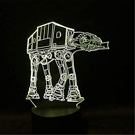 Led Night Light Spotlight 3D Night Lights Novedad Robot Dog ...