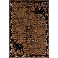United Weavers Woodside Deer Gaze Brown Runner Rug 111 X 72