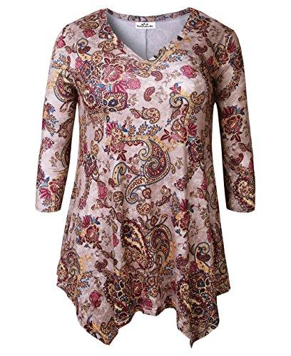 Zerdocean Womens Printed Sleeve Tunic