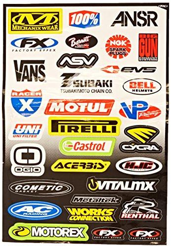 004) Sponsor/Logo Sticker Sheet (Factory Effex Logo Stickers)