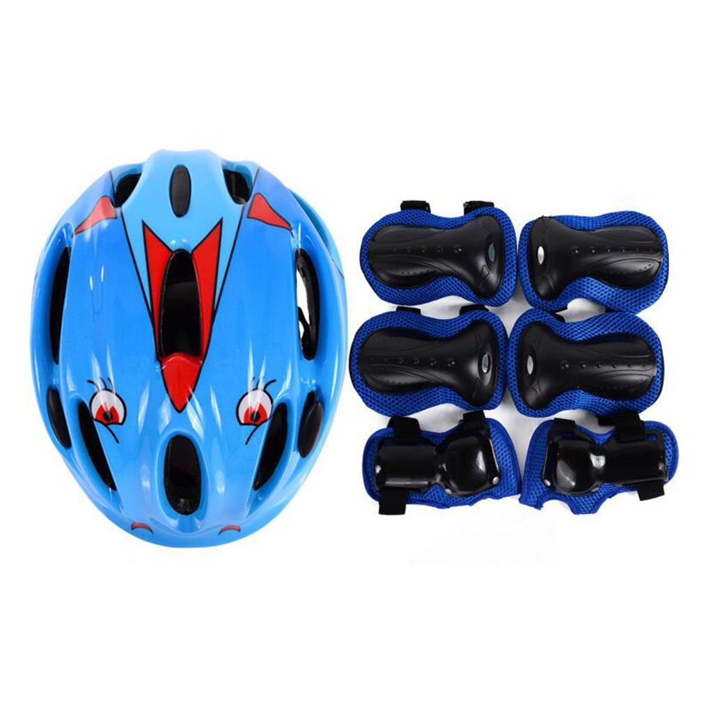 QZ HOME Kinder Fahrrad Helm Schutzausrüstung Set Roller Eislaufen Knieschützer