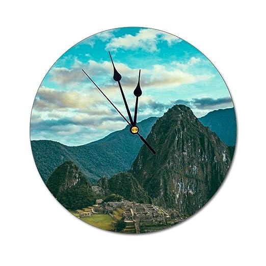 Mesllings Reloj de Pared de Cristal Redondo, con Vista aérea de ...